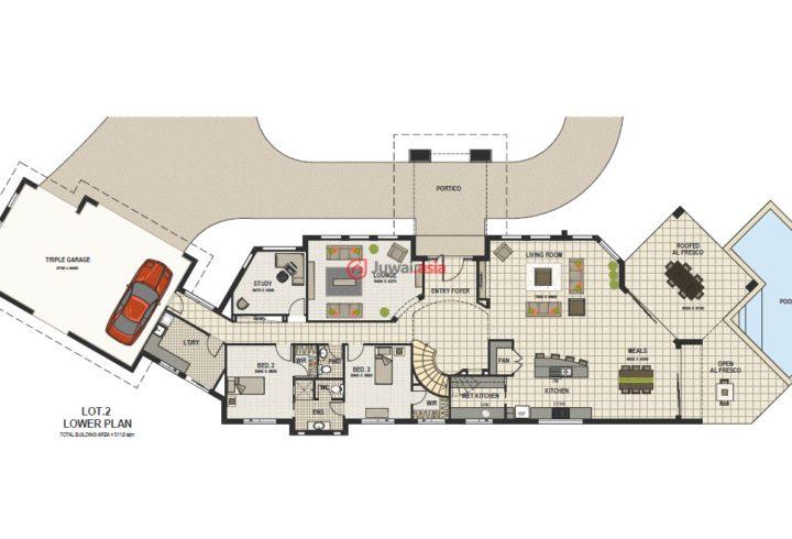 步行商业街平面设计图展示