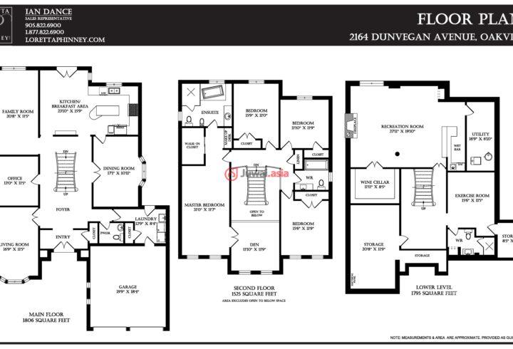加拿大安大略省4卧4卫的广厦CAD1,489,000_实例cad房产图片