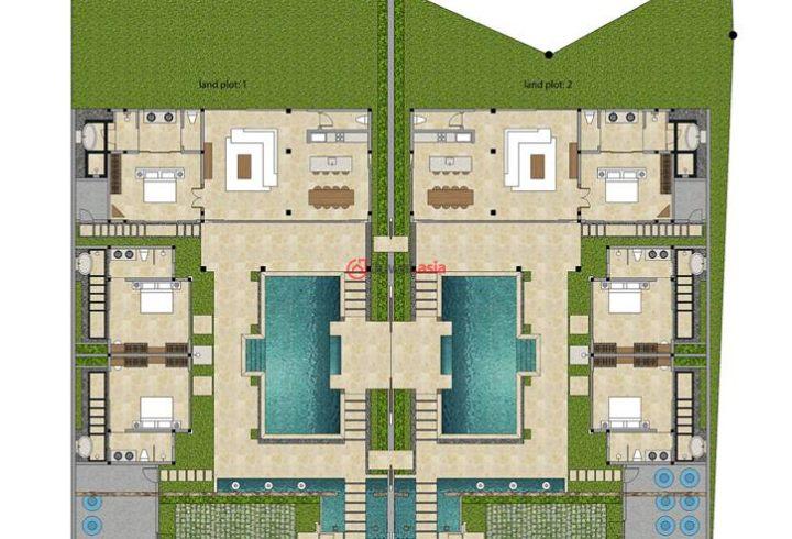 在线微信中文房产顾问:lilyliu0428 QQ: 2437994787 巴厘风格别墅(共2套在售)位于苏梅岛敏南的安静地带,由著名建筑师所设计。 永久产权,售价1690万泰铢包含已设立的泰国公司,房地产将与公司一同出售,交易安全简便。目前正在建地基。 别墅由外墙环绕,安全私密。停车区可供2辆车停靠;旁边的小门为别墅入口将带您经过游泳池并进入别墅。别墅由2个建筑组成:  第一个建筑提供2个客用卧室,2个内置的独立洗手间和1个室外浴缸;  第二个建筑提供1个主卧,1个内置独立洗手间和室外浴缸,宽敞的客厅